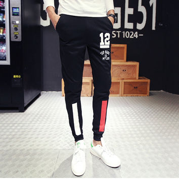Hot Sale Korean Slim Print Men Pants [6541431491]