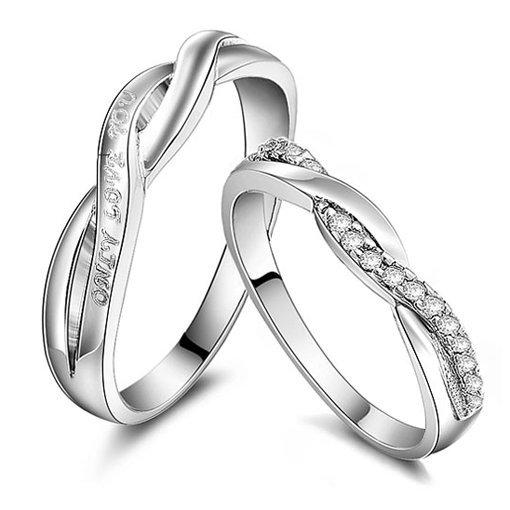 Gullei Trustmart : Promise love swiss diamond commitment couple rings [GTMCR0047] - $43.00-Couple Gifts, Cool USB Drives, Stylish iPad/iPod/iPhone Cases & Home Decor Ideas