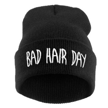 21 Colour Bad Hair  Knitted Hats