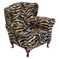 Komfy Kings, Inc 17303 Newco Kids Brown Zebra Baby Renaissance Chair