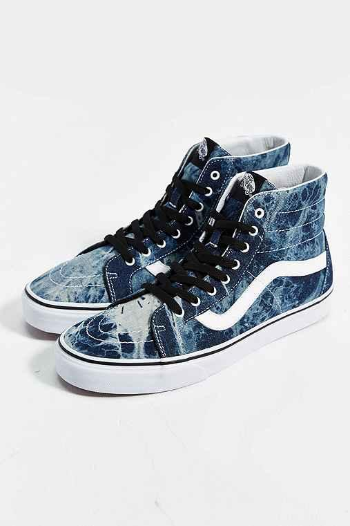 blue and black vans high tops