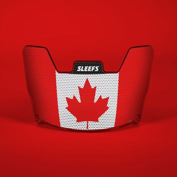 Canada Flag Helmet Eye-Shield Visor