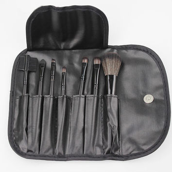 Professional 7 Pcs Makeup Brush Set Tools Make-up Toiletry Kit Wool Brand Make up Brush Set
