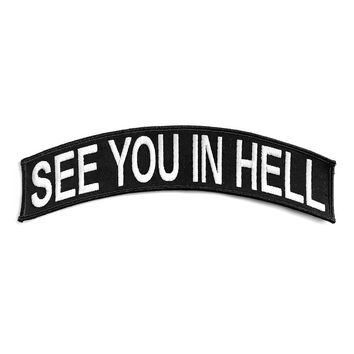 See You In Hell Large Back Patch - Black/White