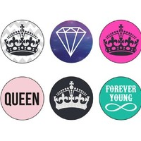 Ankit Home Button Stickers for iPhone, iPod, iPad - Crown