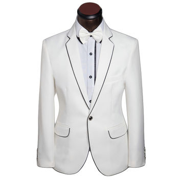 New Costume Male Formal White Wedding Suits 2017 Groom Tuxedo Classic Men's Suit Prom Suit Designer Brand Slim Fit Suits XS-6XL