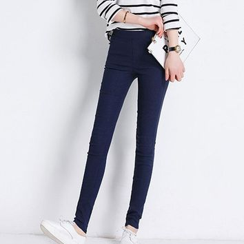 Women Slim  Jeggings Stretch Candy Lady Pencil pantalon femme Trousers Bottoms