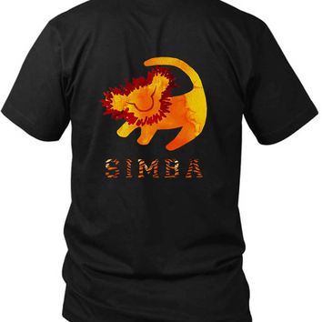 Simba 2 Sided Black Mens T Shirt