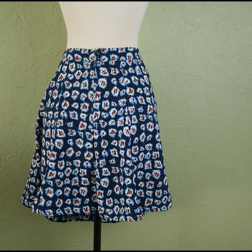 Vintage '90s Floral MiniSkirt// M by StoriesForBoys on Etsy