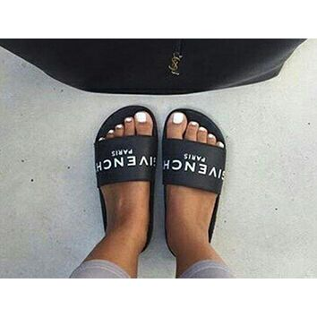 GIVENCHY PARIS 2018 new tide brand fashion comfortable loose slippers sandals F