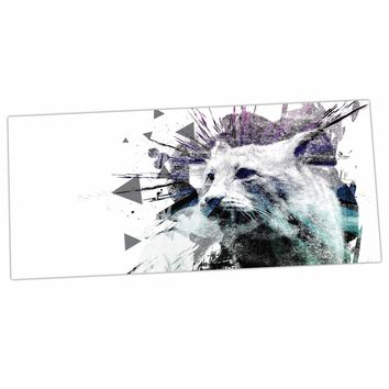 "Frederic Levy-Hadida ""Predation Instinct"" Multicolor Cat Desk Mat"