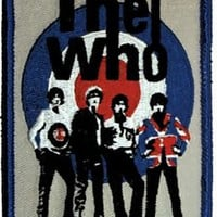 The Who Iron-On Patch Group Bulls Eye Logo