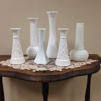 Vintage milk vases: 4 available