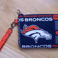 NFL Denver Broncos Stadium Regulation Size Wristlet/Purse/Pouch/Bag/Wallet/Phone Holder/Game Day