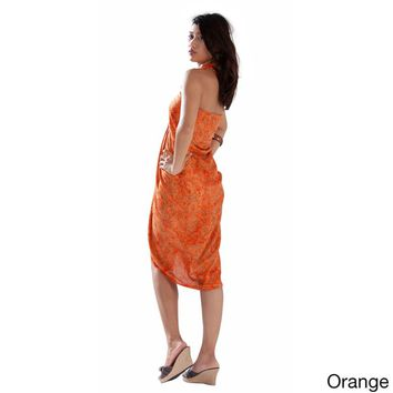 Handmade Leaf Sarong (Indonesia) | Overstock.com Shopping - The Best Deals on Sarongs/Cover Ups