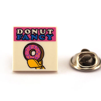 Donut fancy Tie Pin, Tie Tack Pin, Men's Tie Tacks, Tie Tac, Silver Tie Clip, Tie Clips Men, Wedding Clip, Tie Tack