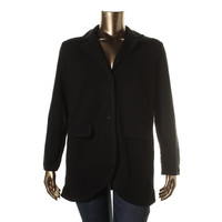 Lauren Ralph Lauren Womens Plus Knit Three Button Casual Blazer