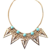 Women Vintage Necklace with Triangle Dangle