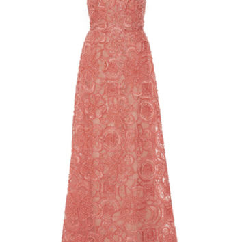 Flower Embroidered Sleeveless Gown
