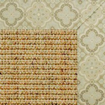 Spice Sisal Rug with Medallions Tapestry Border