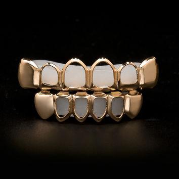 Rose Gold Open Face Grillz