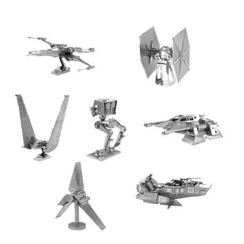 3D Jigsaw Puzzles for Kids Star Wars 3D Nano Metal DIY scale Model Building Architecture educational toy for toddlers