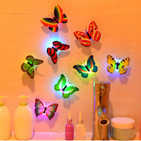 New 7 Color Changing Cute Butterfly LED Night Light Home Room Desk Wall Decor