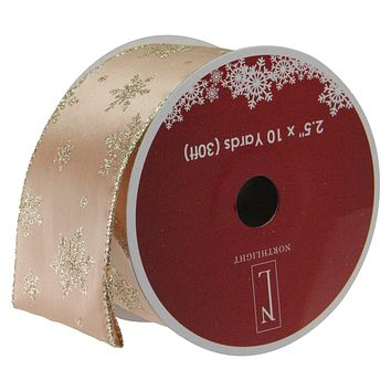 """Pack of 12 Sparkling Gold Stars Wired Christmas Craft Ribbon Spools - 2.5"""" x 120 Yards Total"""
