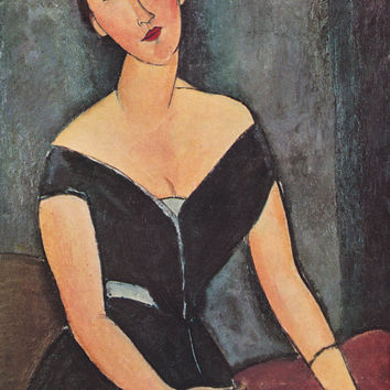 Modigliani. Collection / Set of 15 Vintage Russian, French and English Postcards -- 1960s-1980s