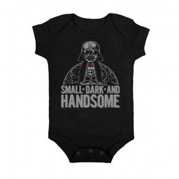 Star Wars Darth Vader Small Dark & Handsome Baby Romper Onesuit