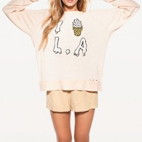 Wildfox Couture -  I SCREAM L.A. DESTROYED SWEATER
