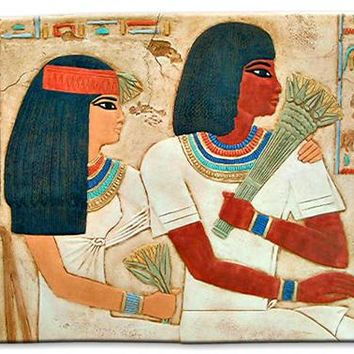 Ramoses and Wife Egyptian Couple Wall Hanging Relief 20W