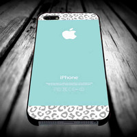 Tiffany Teal and Gray Leopard for iPhone 4/4s/5/5s/5c/6/6 Plus Case, Samsung Galaxy S3/S4/S5/Note 3/4 Case, iPod 4/5 Case, HtC One M7 M8 and Nexus Case **