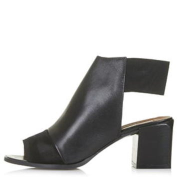 JACKPOT Elastic Back Mid-Heel Shoes - Black