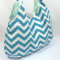 Hobo Beach Bag, Large Hobo Bag, Large Beach Bag, Large Purse, Large Diaper Bag, Summer Bag, Chevron Hobo Bag, Big Beach Bag, Hobo Sling