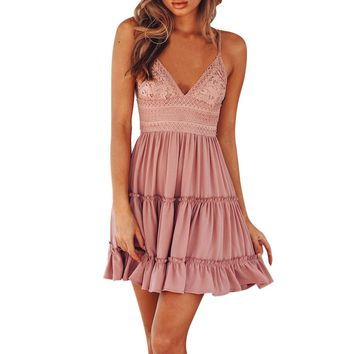 Backless Mini Evening Party Dress