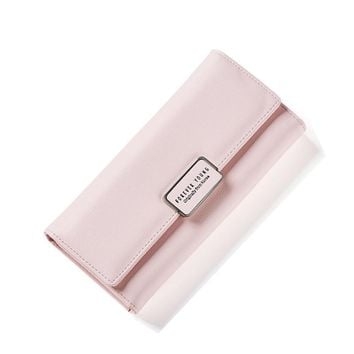 Business card holder natural wallets Women's purse Pure Passport cover large fresh capacity female useful purse