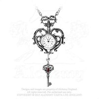 Victorian Times Temp De Sentiment FOB Heart Key Chain Necklace Watch