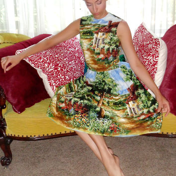 Osterly Pin Up Dress in Country Cottage Print