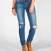 Ymi Wanna Betta Butt Womens Destructed Skinny Jeans Medium Blast  In Sizes