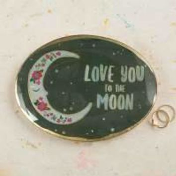 Love You to the Moon Glass Tray