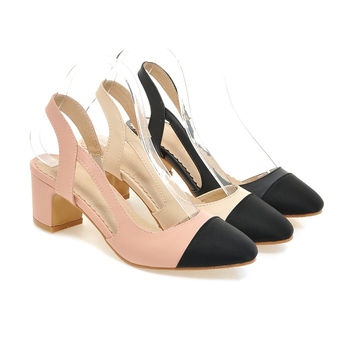 Back Sling Sandals Pumps High-heeled Shoes Woman