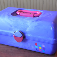 FREE SHIPPING - Caboodles/Purple Caboodles/Make-Up Case/Storage Case/Pink Caboodles