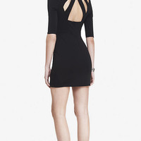 CUTOUT BACK 3/4 SLEEVE MINI SHEATH DRESS from EXPRESS