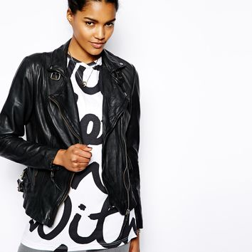 Muubaa Reval Leather Biker Jacket