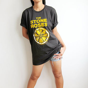 The Stones Roses T Shirt English British UK Alternative Rock TShirt Band Music Men Women TShirts Size M