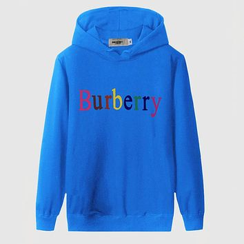 Boys & Men Burberry Fashion Casual Top Sweater Pullover Hoodie