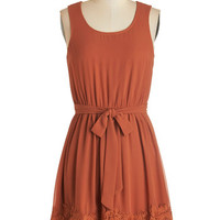 ModCloth Mid-length Sleeveless A-line Practice Your Calligraphy Dress