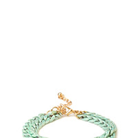 FOREVER 21 Double Chain Bracelet Mint One