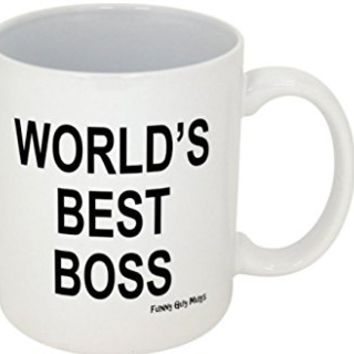 "The Office ""Worlds Best Boss"" coffee mug- White 8 ounces"